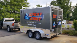 Spray Away Mobile Pressure Washing Branded Trailer